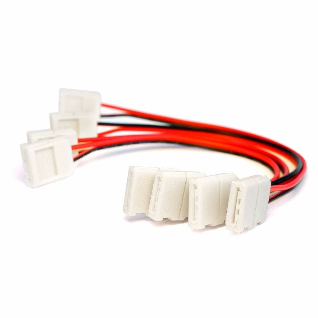 10mm 5050 Solderless Led Light Strip Connectors And Extensions Wiring Terminals Supplies Single Color Hitlights