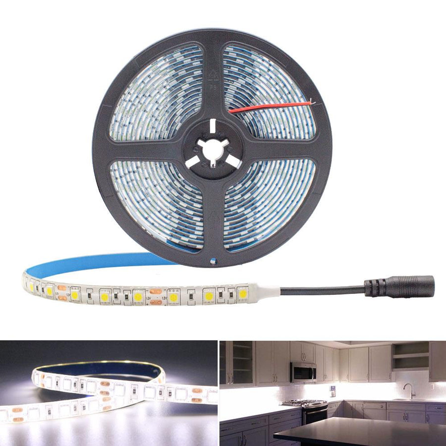 Standard Luma10 (5050) LED Light Strip, Single Color 16.4 Feet - High Density Weatherproof [IP-65] - HitLights
