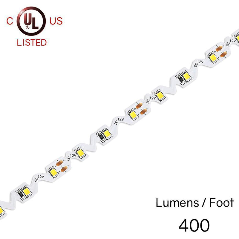 Premium Luma20 (2835) 'WAVE' LED Light Strip, Single Color (UL-Listed) - [IP-20] - HitLights