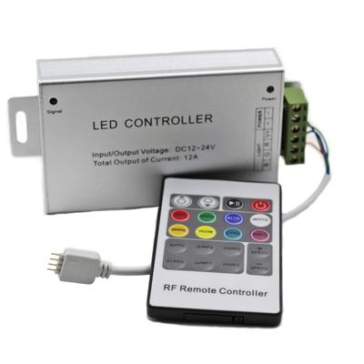 R110 High Power RGB Multicolor LED Light Strip Controller : RF Remote - HitLights