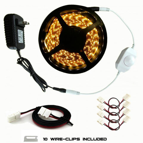 Premium Luma5 Single Color LED Light Strip Custom Kitchen Kit : 16.4 Feet - HitLights
