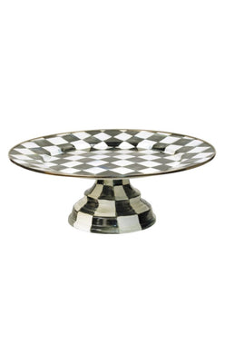 Courtly Check Pedestal Platter