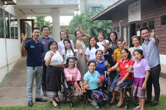 Empowered Women with Disabilities in Laos Making Ethical and Sustainable Gifts