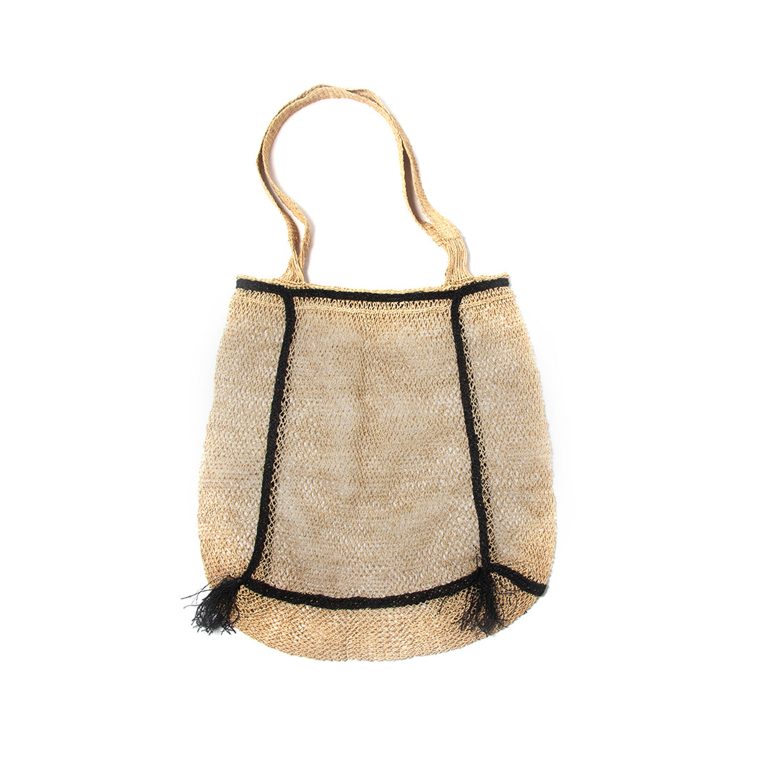 Lao Vine Bag from Laos with Black Tassel Detailing