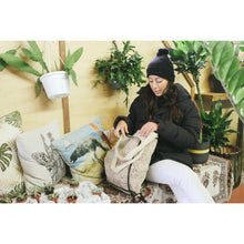 Jungle Bag - Large Double Handle Tote - Black Lining