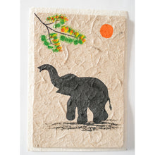 handpainted elephant greeting card from Laos elephant poo