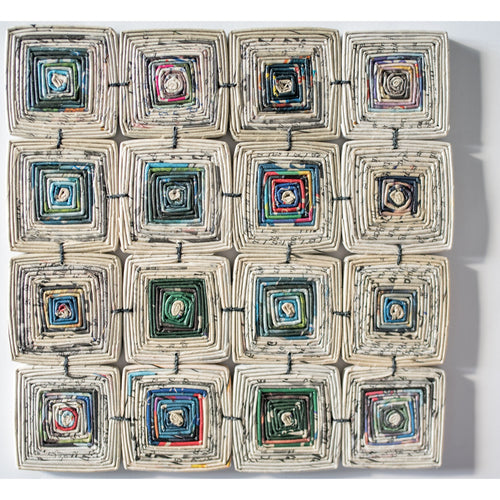 Recycled Paper Hot Pad- Large Squares