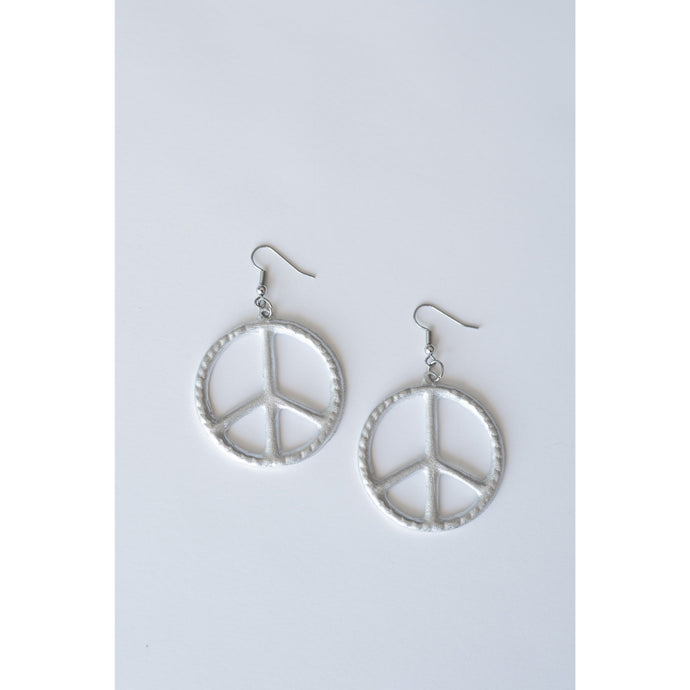 peace sign hoop earrings handmade in Laos