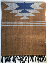 Handwoven Rug- Tan/Blue