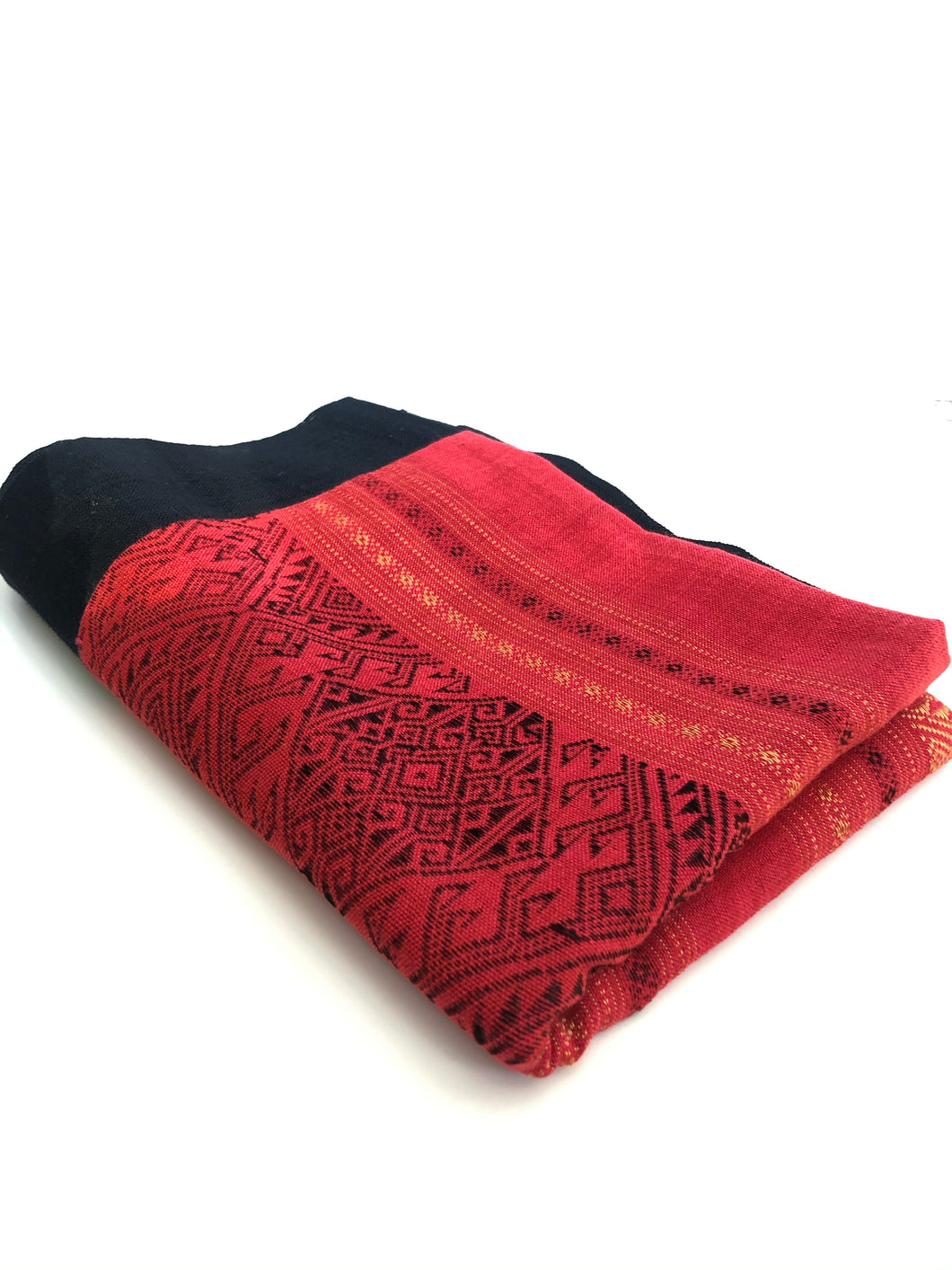 Cotton Traditional Table Runner- Red