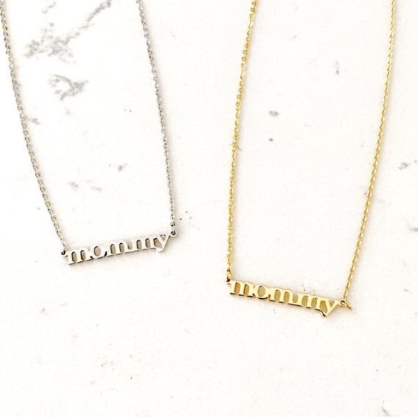 mommy necklace - gigglosophy