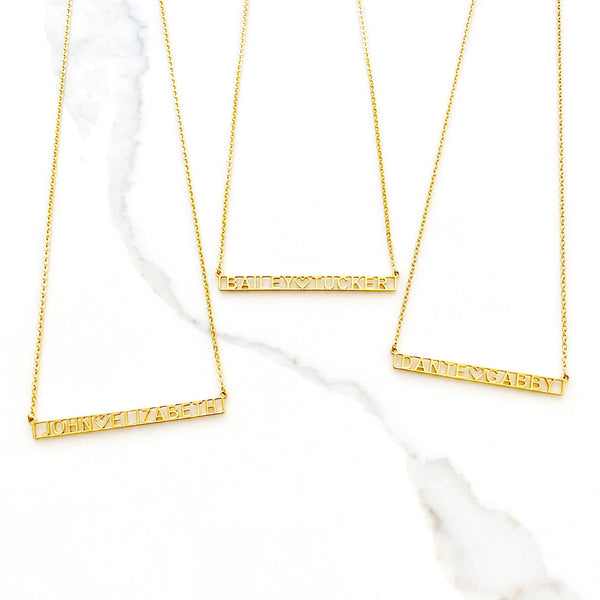 gigglosophy bar necklace - gigglosophy