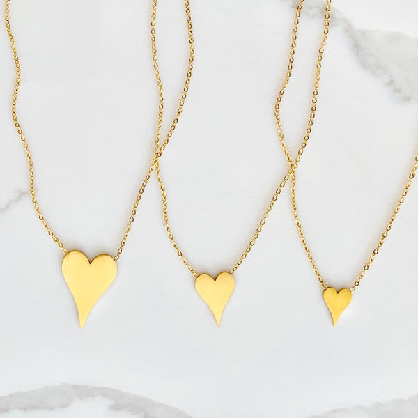 solid heart necklace - gigglosophy