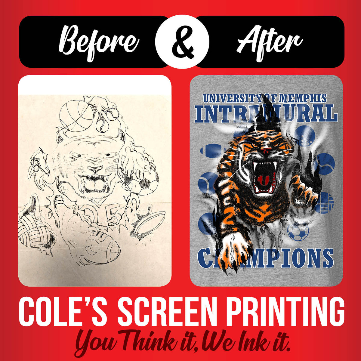 Coles Screen Printing Memphis Tennessee Coles Printing