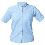 Load image into Gallery viewer, Girl's/Women Blue Oxford Shirt