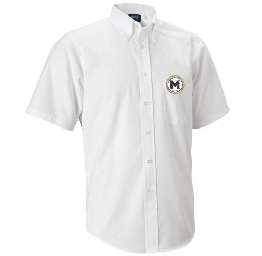 MAHS Boy's/Men White Oxford Shirt