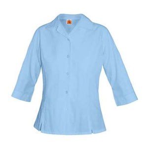 HR GIRLS/WOMEN 3/4th sleeve Blue Oxford Shirt