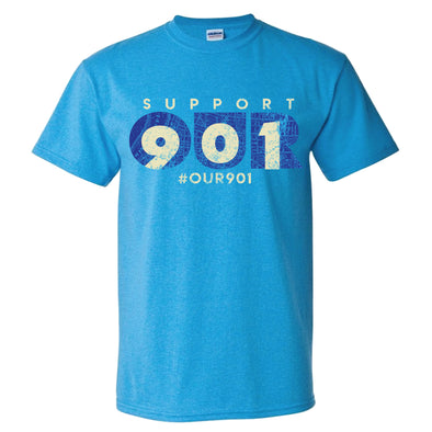 Our 901 Tee - Heather Sapphire