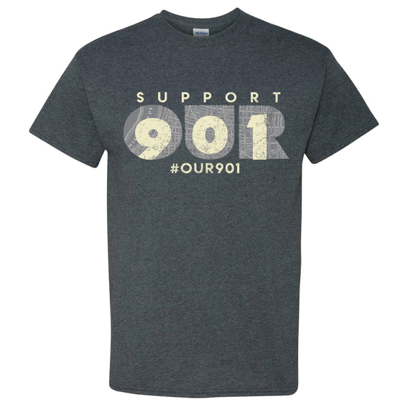 Our 901 Tee - Dark Heather