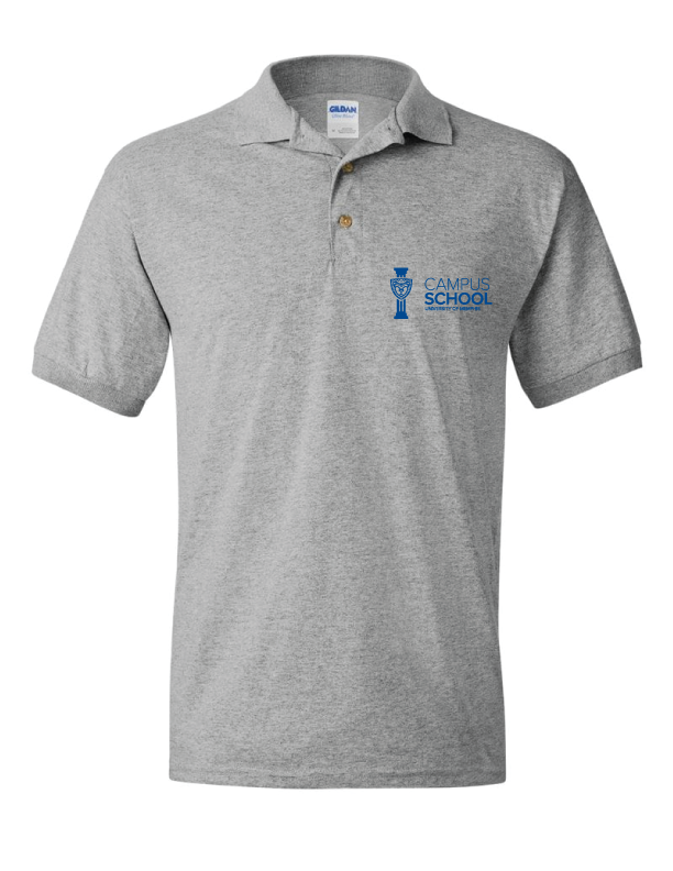 U of M Campus School polo - grey