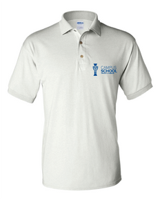 U of M Campus School polo - white