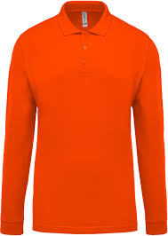 Happy Times Orange Polo, Long Sleeve