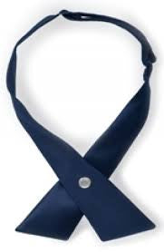 Cross Tie for Women, Solid Navy