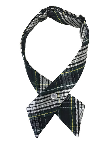 Womens Plaid Cross Tie