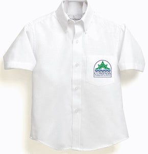 Boy's/Men White Oxford Shirt - Compass