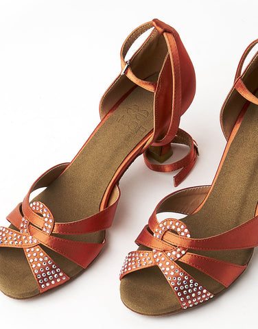Ladies Latin & Ballroom Dance Shoes - Orange