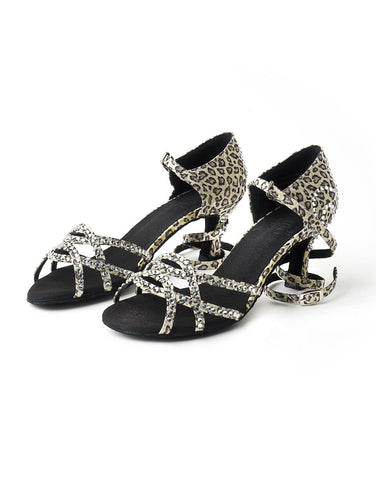 Ladies Latin & Ballroom Dance Shoes - Leopard Print
