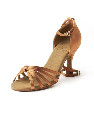 Ladies Latin & Ballroom Dance Shoes - Dark Tan