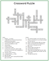 Spring Crossword Answer Key