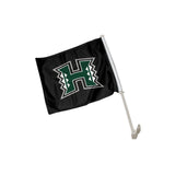 "Hawaii Rainbow Warriors ""SHAKA"" Hand Sign Car Flag"