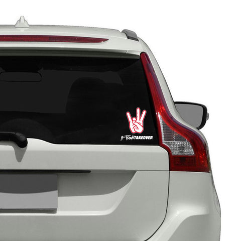 "Houston Cougars ""SHASTA"" Hand Sign Decal"