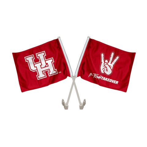 "Houston Cougars ""SHASTA"" Hand Sign Car Flag"