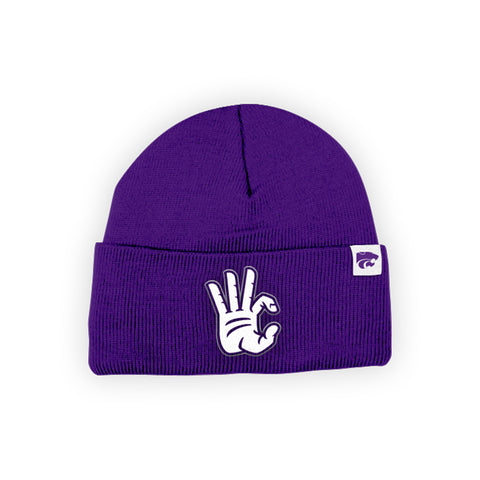 "Kansas State Wildcats ""WC"" Hand Sign Beanie"