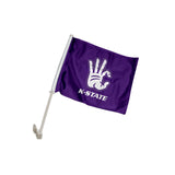 "Kansas State Wildcats ""WC"" Hand Sign Car Flag"