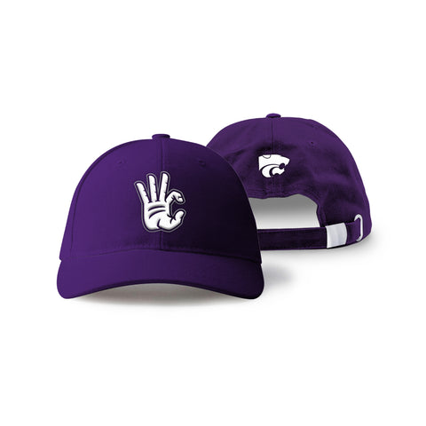 "Kansas State Wildcats ""WC"" Hand Sign Hat"