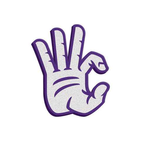 "Kansas State Wildcats ""WC"" Hand Sign Foam Hand/Foam Finger"