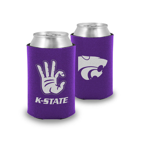 "Kansas State Wildcats ""WC"" Hand Sign Koozie / Can Cooler"