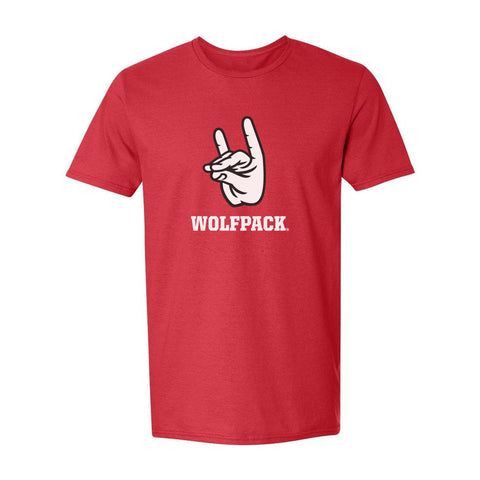 "North Carolina NC State Wolfpack ""WOLFPACK"" Hand Sign T-Shirt"