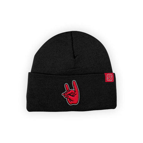 "North Carolina NC State Wolfpack ""WOLFPACK"" Hand Sign Beanie"