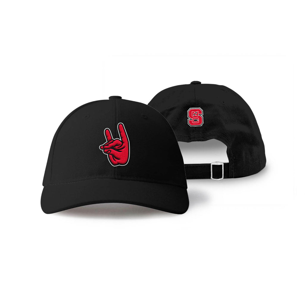 b1a46b31dd87af ... free shipping north carolina nc state wolfpack wolfpack hand sign hat  02bd7 47aab
