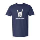 "Nevada Wolf Pack ""WOLF PACK"" Hand Sign T-Shirt"