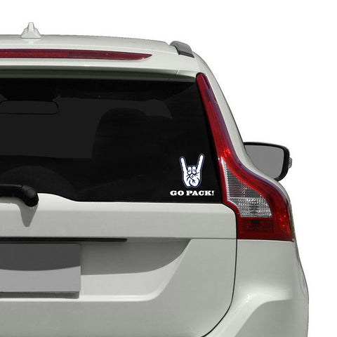 "Nevada Wolf Pack ""WOLF PACK"" Hand Sign Decal"