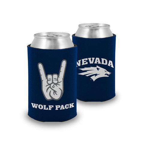 "Nevada Wolf Pack ""WOLF PACK"" Hand Sign Koozie / Can Cooler"
