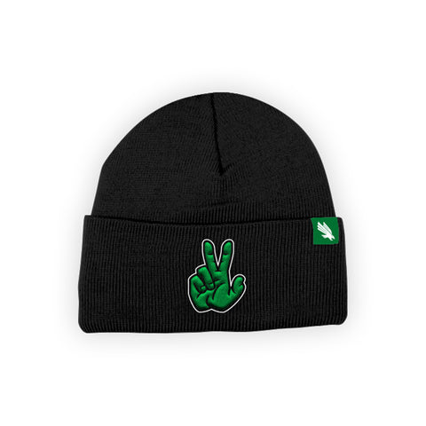 "North Texas Mean Green ""EAGLE CLAW"" Hand Sign Beanie"