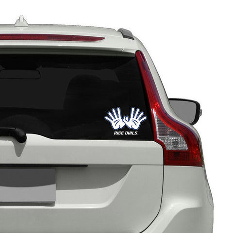 "Rice Owls ""OWL WINGS"" Hand Sign Decal"