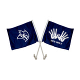 "Rice Owls ""OWL WINGS"" Hand Sign Car Flag"